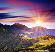 mountain sun rise